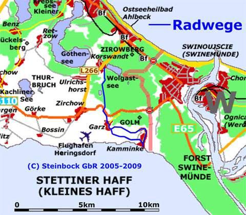 Radfahren Auf Der Insel Usedom Ahlbeck Kamminke