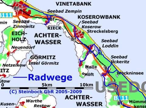 Radfahren Auf Der Insel Usedom Loddin Und Loddiner Hoft