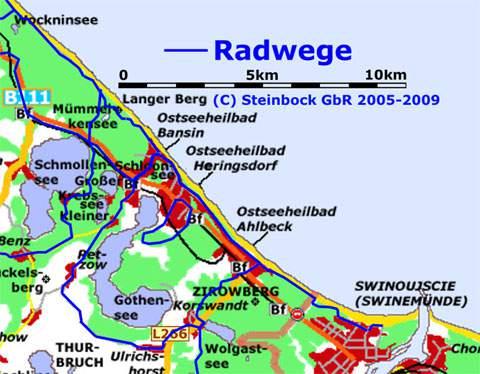Radfahren Auf Der Insel Usedom Radweg Usedomer Kaiserbader