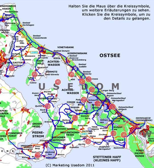 radwege usedom karte pdf Radfahren auf der Insel Usedom: Radwege und Radtouren