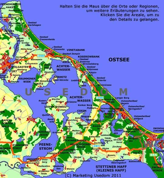 Insel Usedom Reisefuhrer Achterwasser Und Ostsee